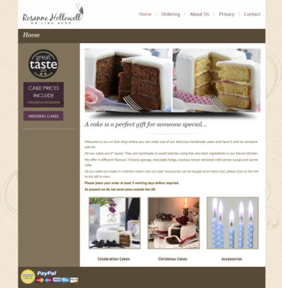 Rosanne Hollowell online store by SiliconStudio