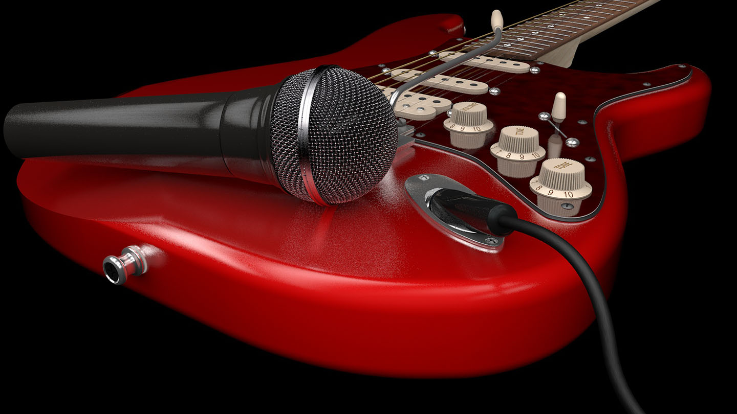 Red Stratocaster Guitar