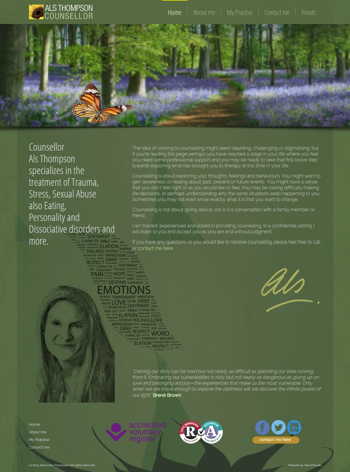 Als Thompson website design
