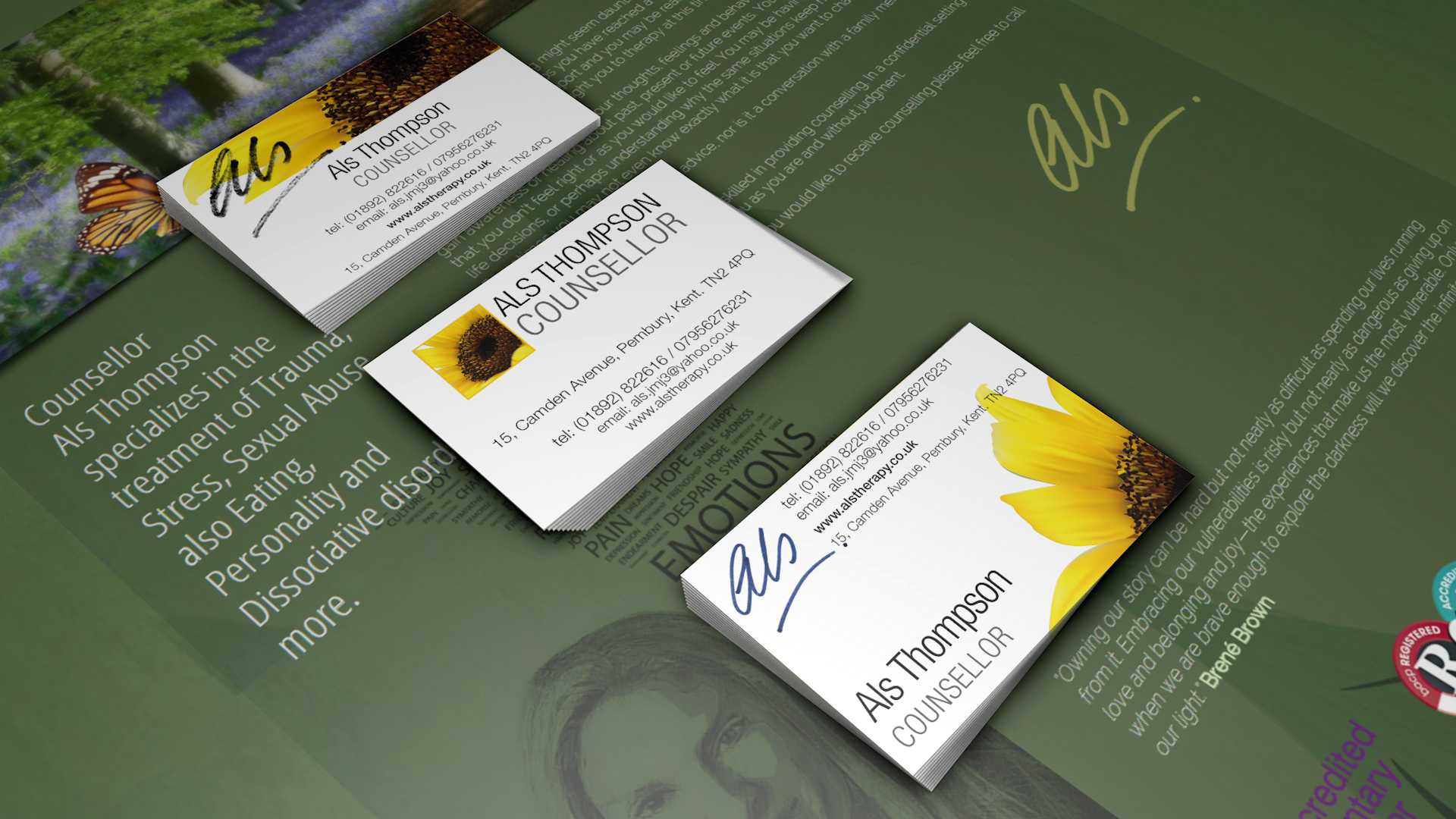 Als Thompson stationery design