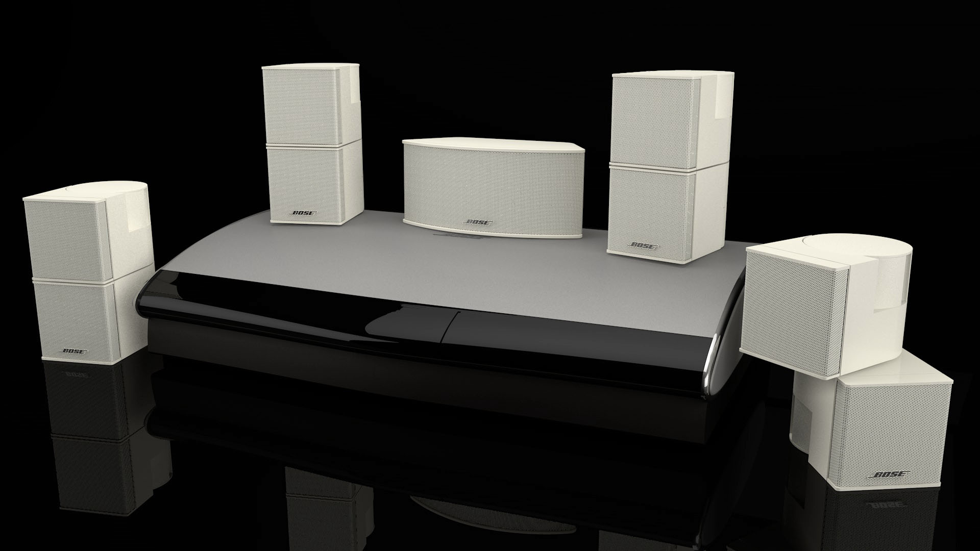 Bose Media Center and Speakers CGI