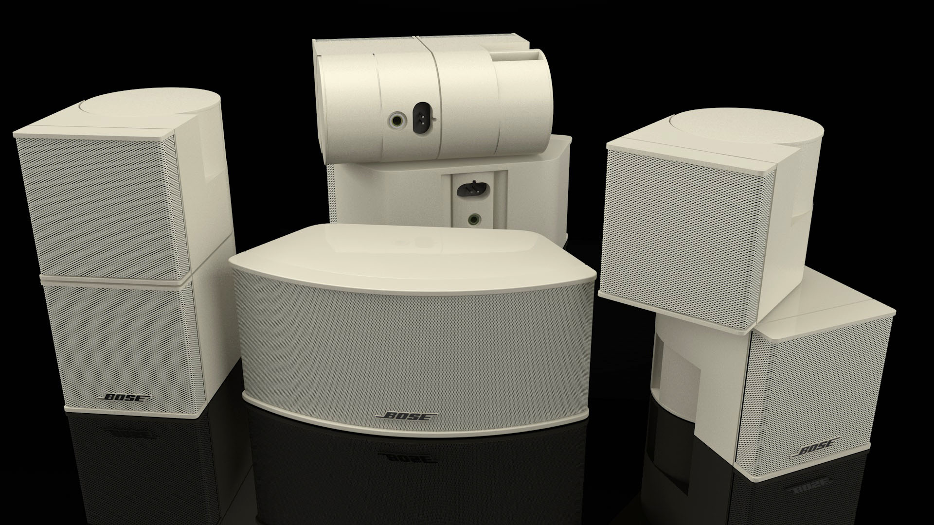 Bose Lifestyle Speakers in Cream CGI