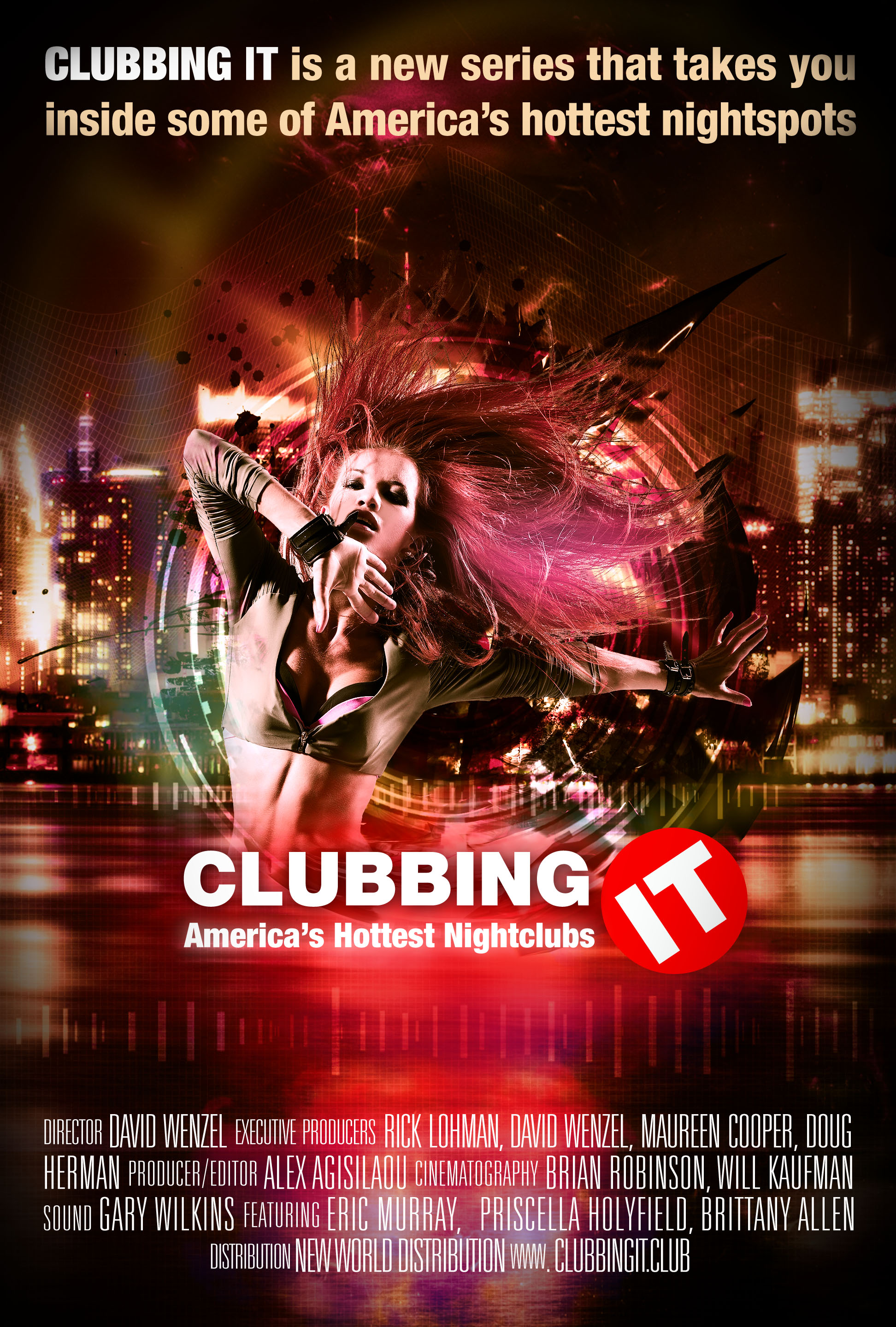 Clubbing IT TV series poster design