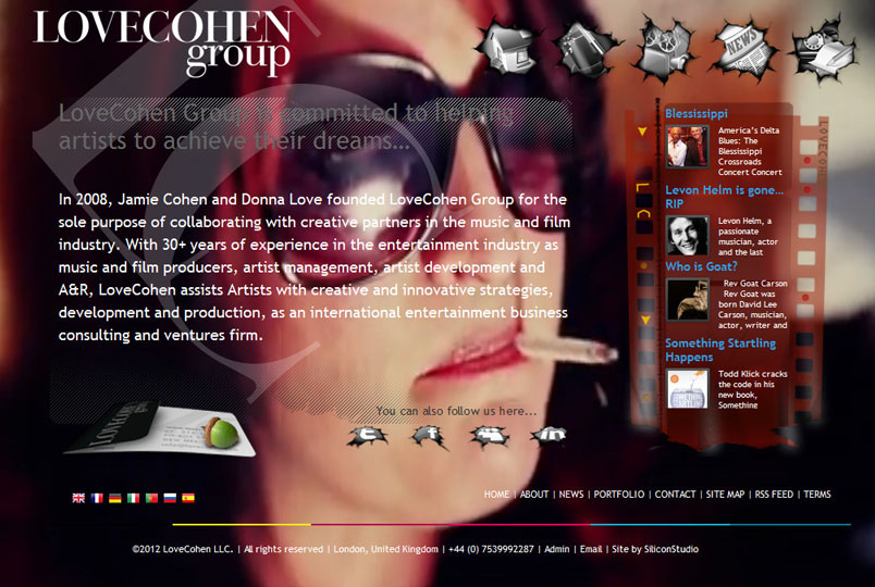 LoveCohen Group website design