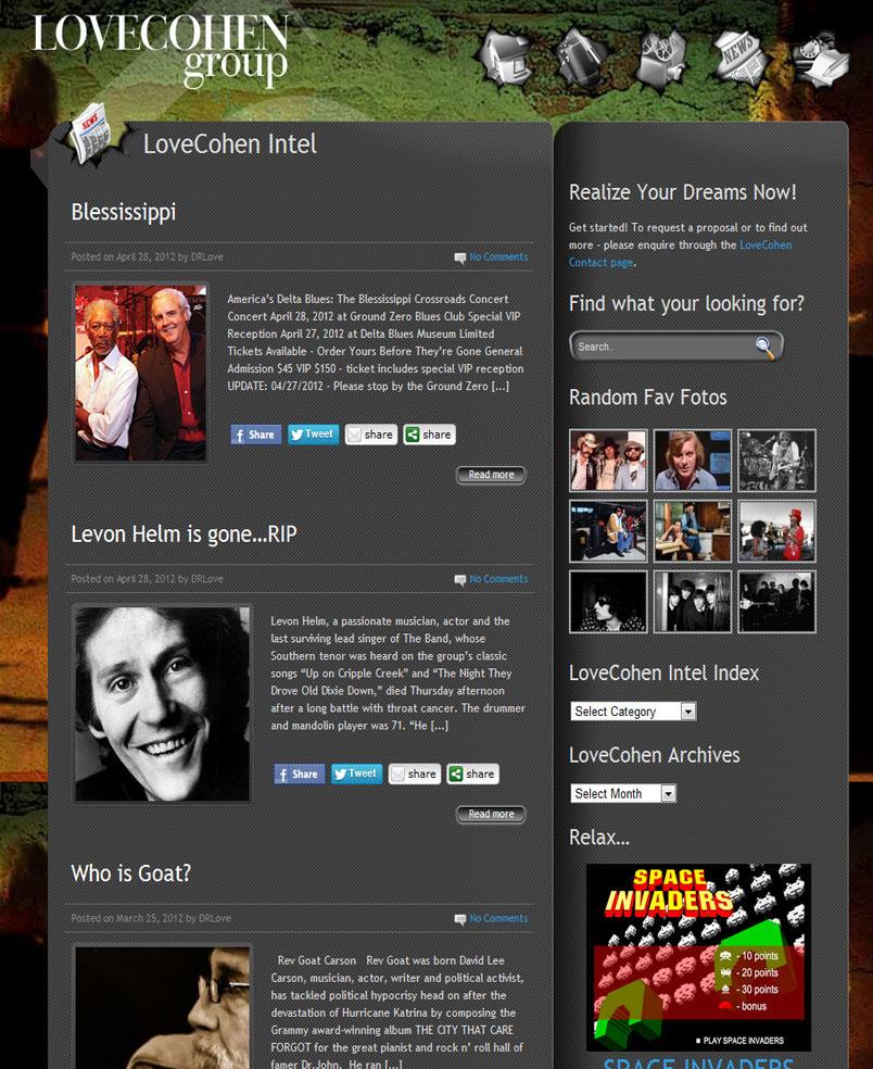 LoveCohen Group website design