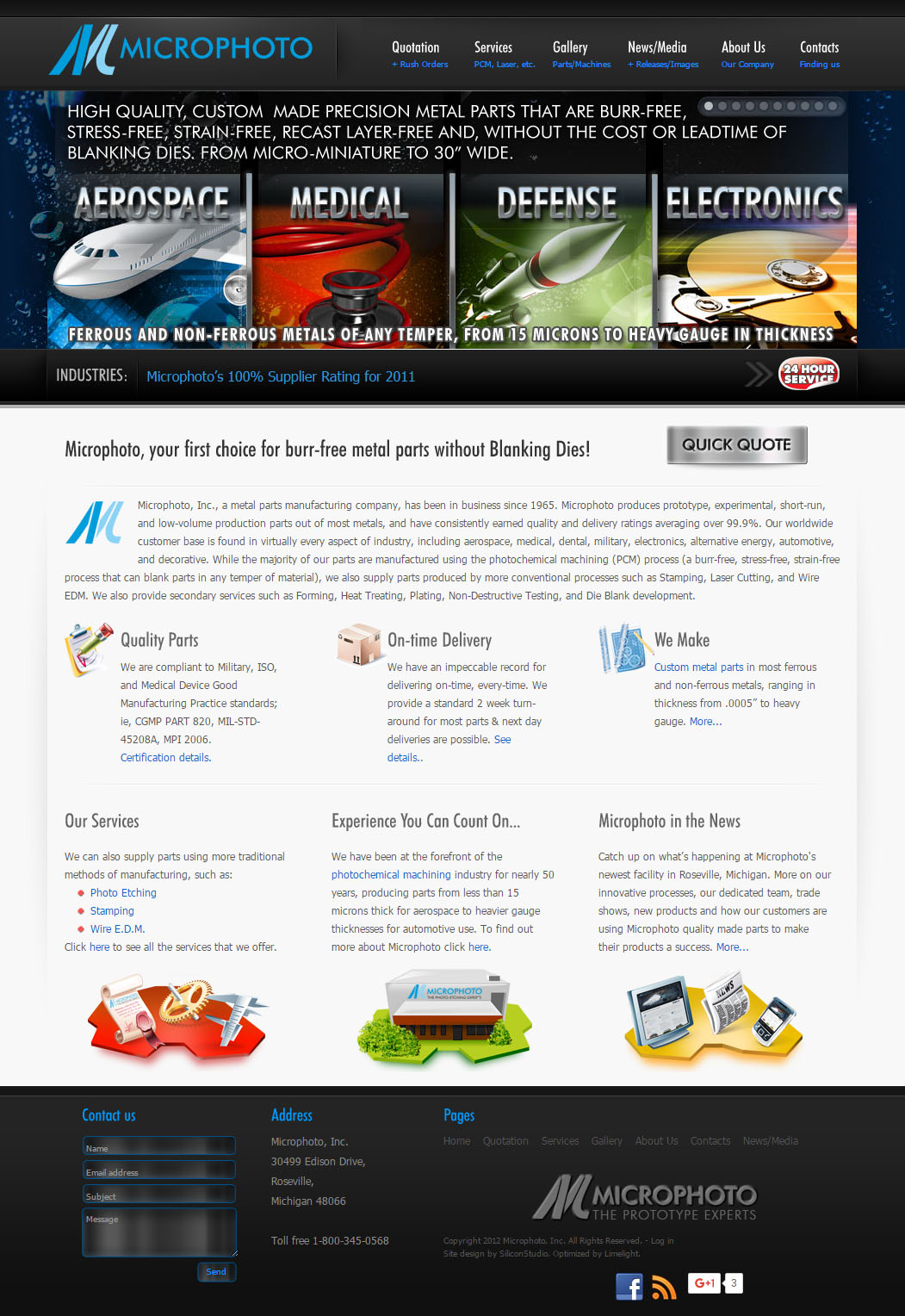 Microphoto website design slideshow