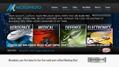 Microphoto website design home page