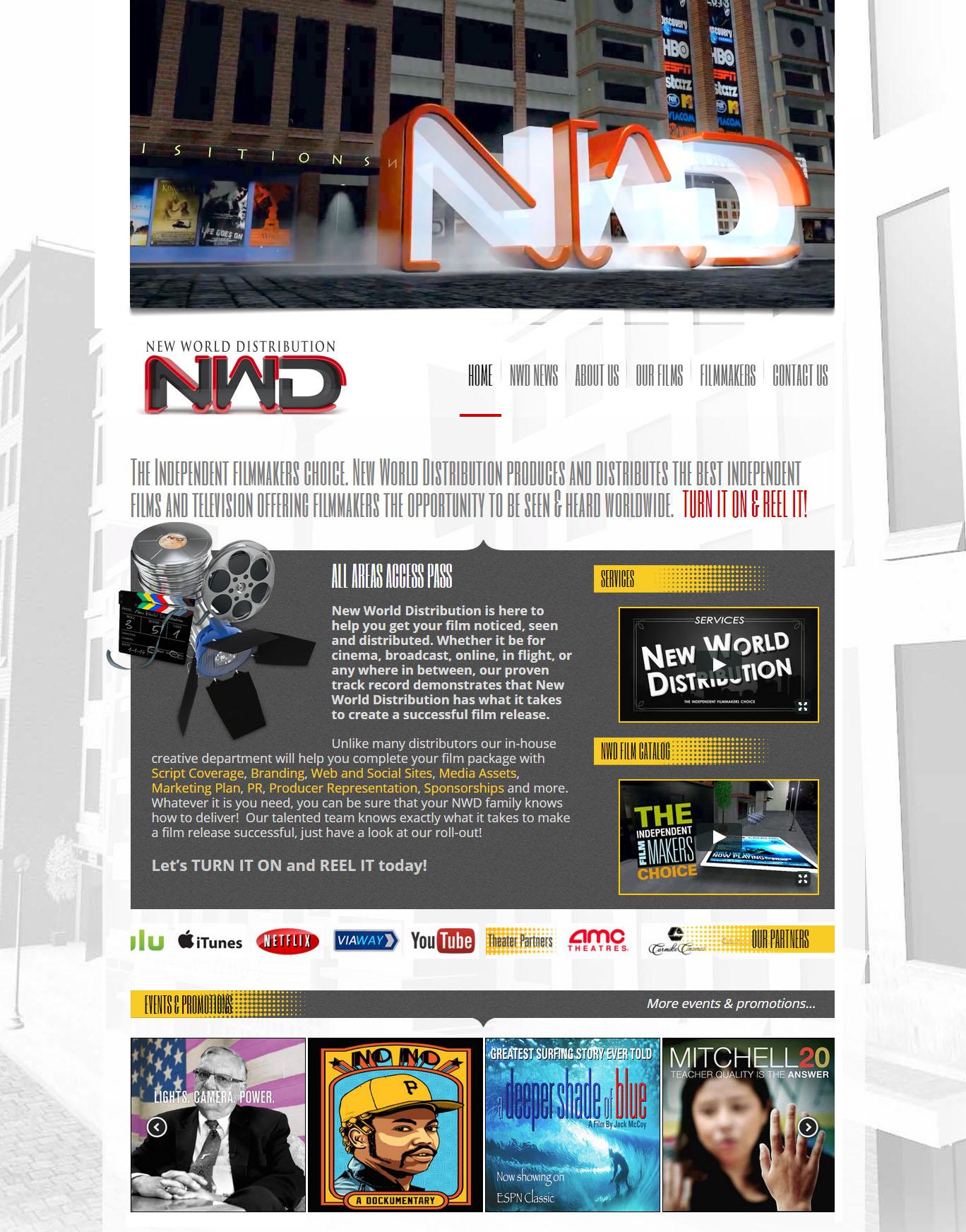 New World Distribution website design