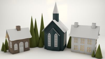 PaperWorks paper house models CGI