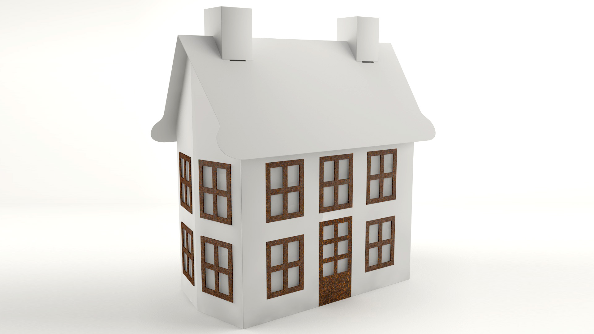 PaperWorks paper house models CGI