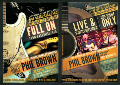 Phil Brown Gig Posters