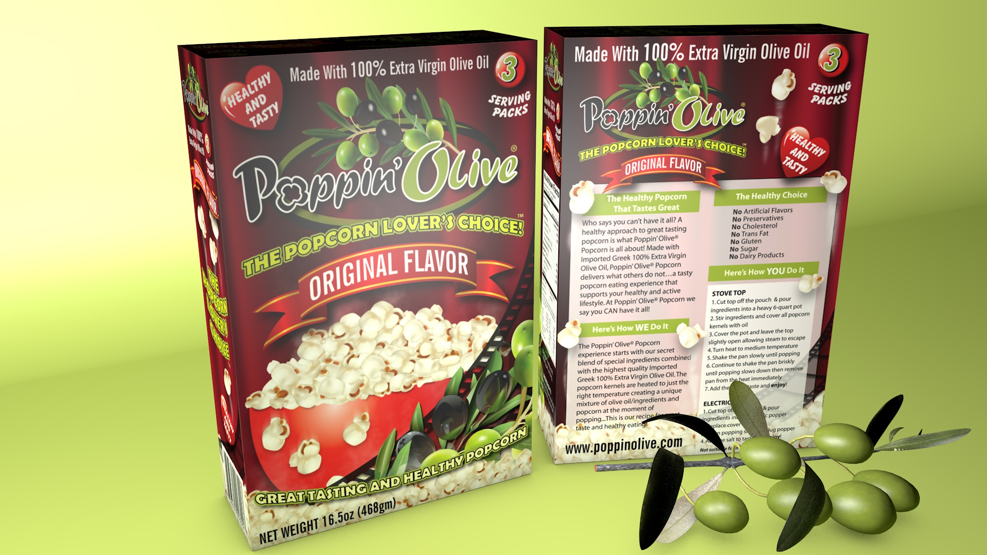 Poppin Olive Retail Pack design by SiliconStudio
