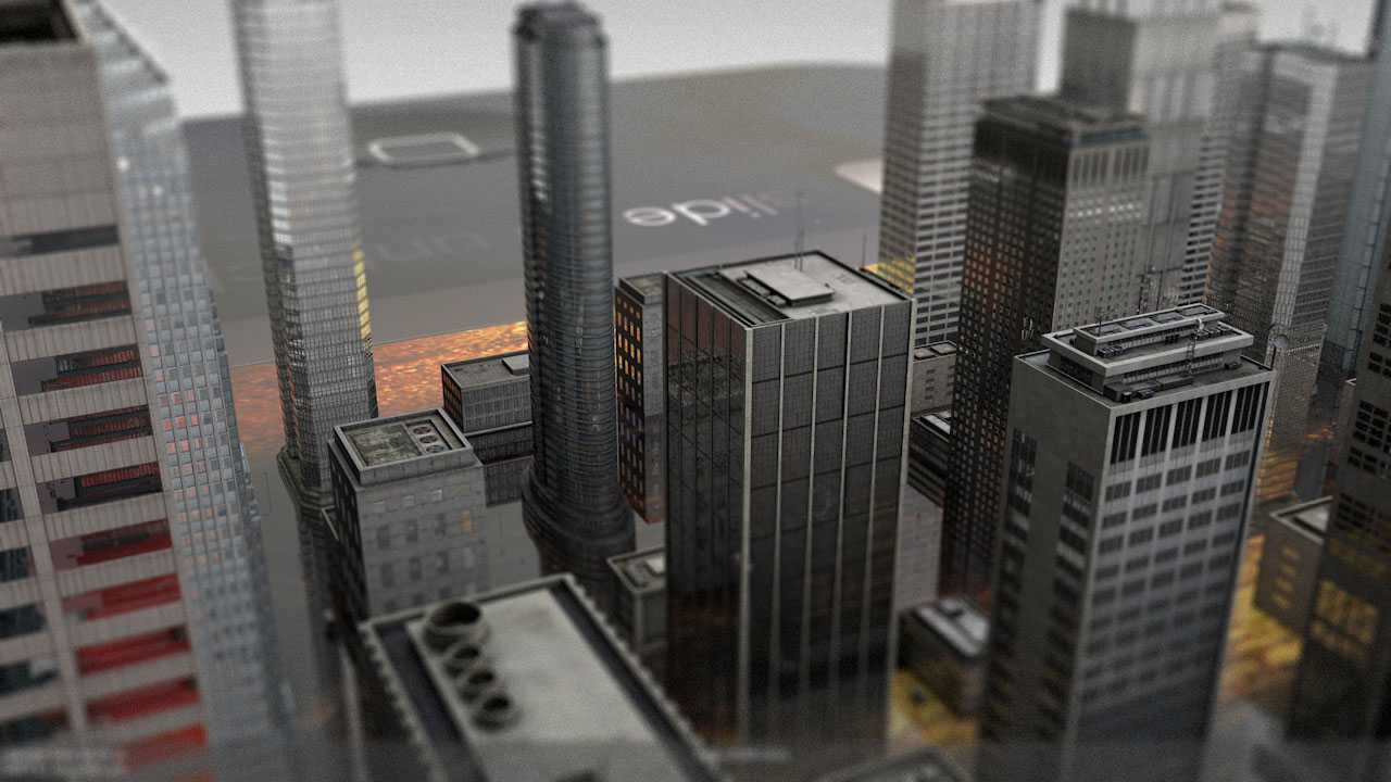 CGI city on Smartphone
