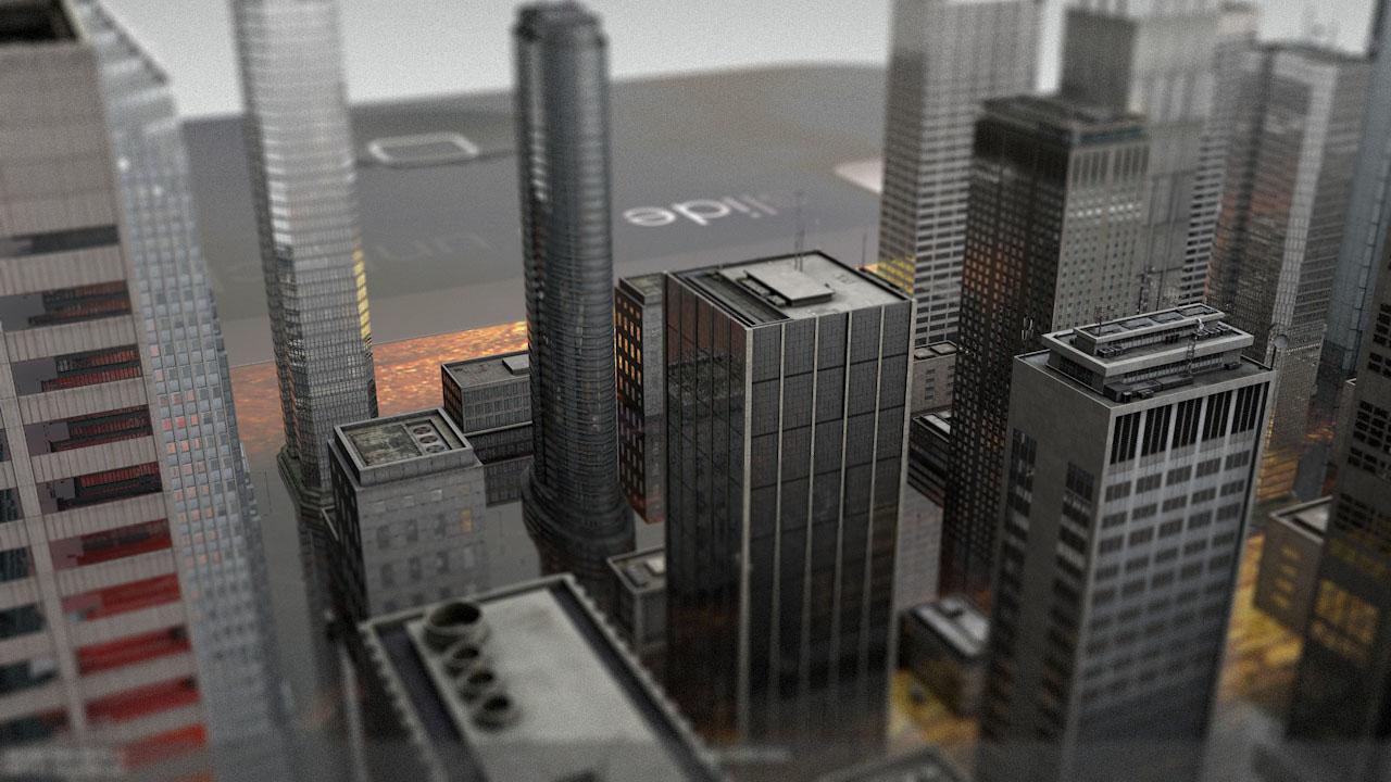 CGI city on Smartphone