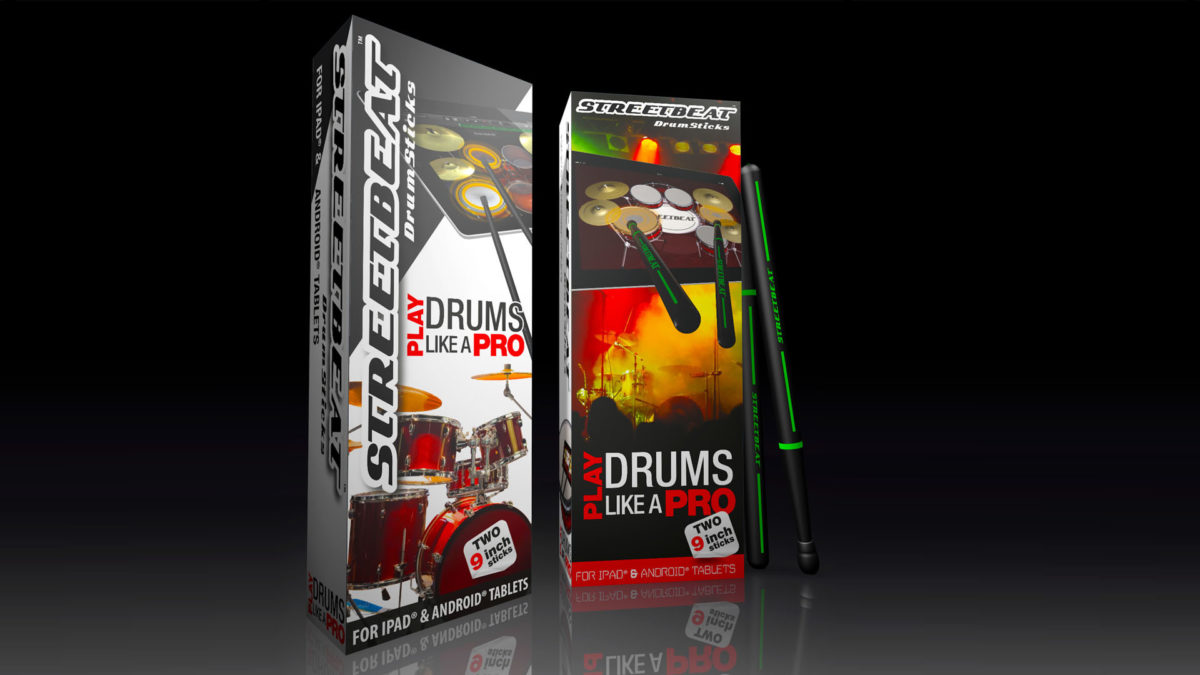 StreetBeat Drumsticks release version CGI of retail pack
